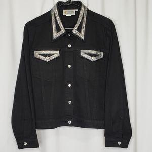 Black Embellished Jean Jacket Christine Alexander